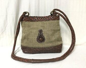 Bags by Marlo Purse,bag, Canvas,Faux Leather ,Shoulder Bag,boho bag