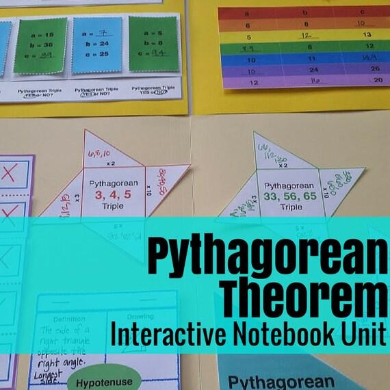 Folder Flips: Pythagorean Theorem Interactive Notebook Unit
