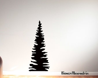 Pinetree Wall Decal. Tree Wall Decal. Large Tree Decal. Wall Mural. Large Wall Decal. Nursery decor. Wall sticker. Home decor decals.