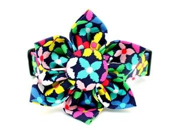 Flower Dog Collar with Flower Attachment- FC-5242