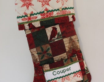 Handmade Personalised Christmas Stocking
