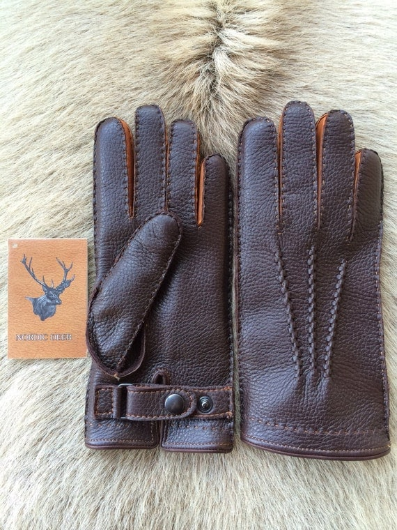 Winter Leather Gloves With Rabbit Fur Lining For Men S All