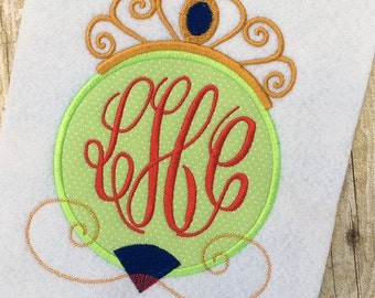 Mulan Applique Design - Princess Applique Design - Monogram Frame Embroidery Design - Applique Design - Embroidery Design