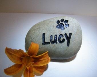 Pet Memorial Rock, Custom Engraved Pet Memorial,Cat Memorial Stone, Dog Memorial Stone,Pet Stone Memorial