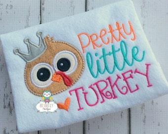 Pretty Little Turkey Thanksgiving Shirt, Girl Thanksgiving, Girl Turkey Shirt, Thanksgiving Shirt