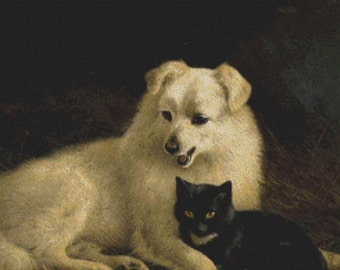 Cat and Dog PDF Cross Stitch Pattern