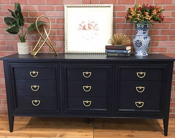 SOLD: Navy Painted Dresser