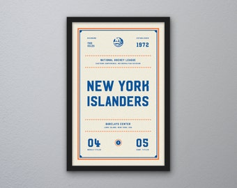 "New York Islanders ""Day & Night"" Print"