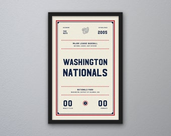 "Washington Nationals ""Day & Night"" Print"