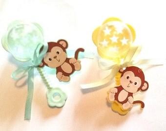 Monkey baby rattles 30 pc ** free shipping **