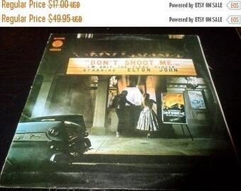 Save 30% Today Rare Vintage 1973 LP Record Elton John Don't Shoot Me I'm Only The Piano Player DJM Portugal Import Version