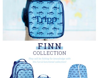 Monogram Backpack Finn print (more colors available visit our store to see) Monogram included! Matching lunch tote and gym bag available too