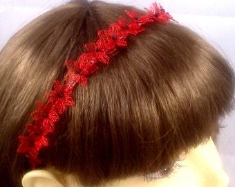 Hair jewellery boho, headpiece wedding, wedding wreath, floral band, wedding ribbon, gift for women, on order,