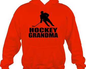 Hockey Grandma Sweatshirt/ Hockey Sweatshirt/ Hockey Grandma Hoodie Sweatshirt/ Hockey Gift