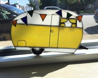 Camper Trailer RV Stained Glass Suncatcher