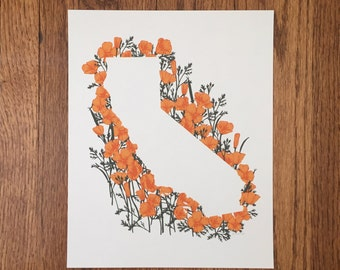 California State Print - Poppies