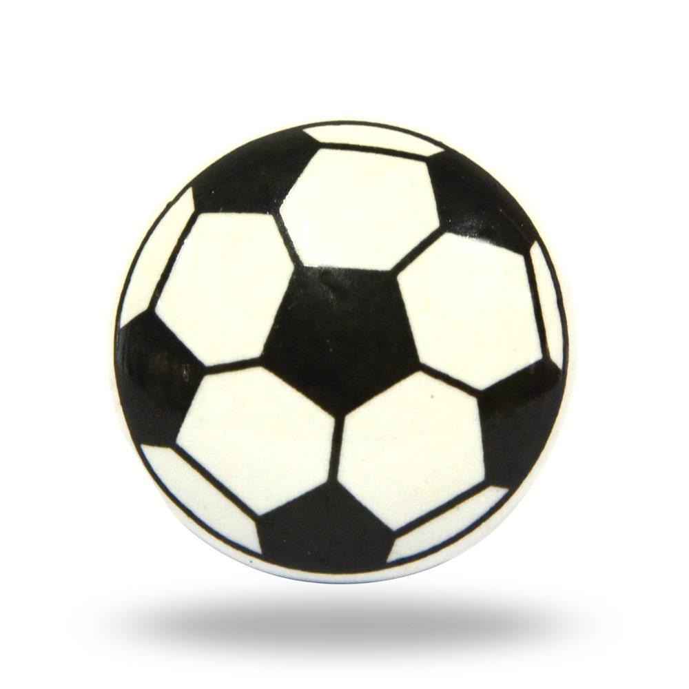 Soccer ball decorative furniture knob for a little boy or for Crystal bureau knobs