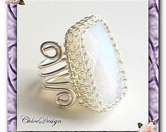 diy pdf tutorial Wire Wrapping Opalite Jewelry Ring,handmade,wedding,casual,lessons,pattern,wrap,white,opal