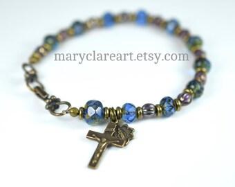 Girl's Rosary Bracelet, Grace Rosary Bracelet, Beaded Bracelet