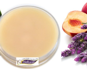 Babassu Hair Balm: Peach Lavender Scent 100% Natural twisting and moisture sealing balm. Great for coconut allergies