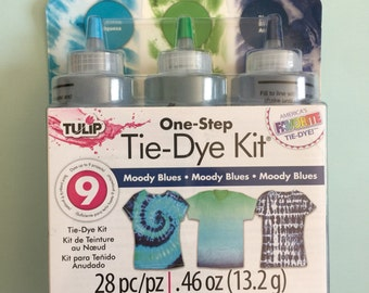 Tulip one step tie dye kit moody blues