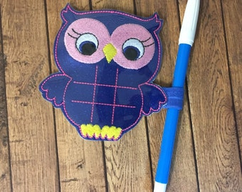 Owl -  Tic Tac Toe Board Game -DIGITAL EMBROIDERY DESIGN