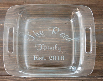 8x8 Personalized Pyrex Dish with Lid -