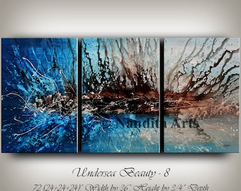 Large Contemporary Wall Art painting abstract art large wall art blue contemporary art