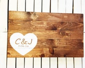 PERSONALIZED- Unique Wedding Guest Book Alternative, Wood Sign