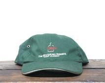 Vintage 90's Minimal Woodford Reserve Turf Classic Thorobred Horse Race Bourbon Whiskey Unstructured Strapback Hat Baseball Cap