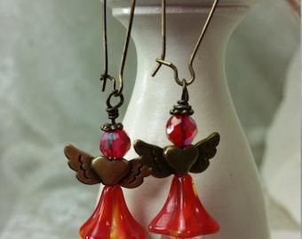 Vintage Inspired Angel Earrings
