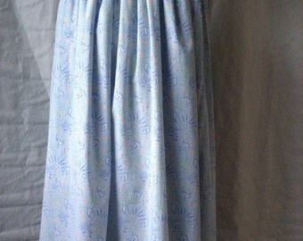"LAURA ASHLEY Bird Print Midi Skirt - Summer - Spring - Small - 26"" Waist - Vintage - Free Postage"