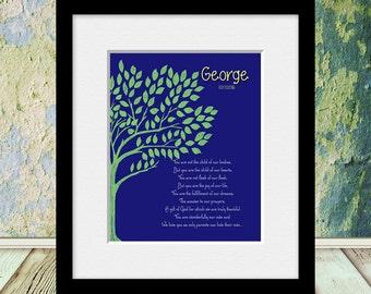 New Adoptive Parent's Gift, Adoption Poem, ADOPTION Wall Print, Adoption Wall Art, Adopting, Nursery Decor