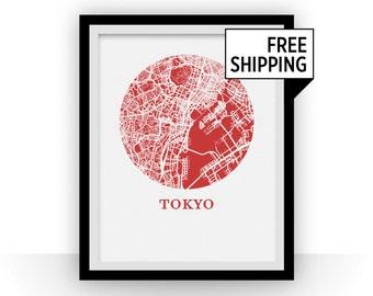 Tokyo Map Print - City Map Poster