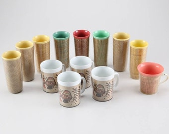 Collection of Vintage Thermo-Serv Cups