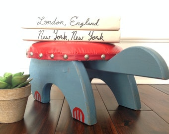 Vintage Footstool Turtle Child's Seat Step Stool