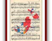 Ariel Poster Little Mermaid Poster 10 Watercolor Print Disney Princess  Wall Art Print 8x10 Wall Decor Home Book Page Upcycled Dictionary