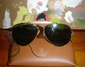 Ray Ban Aviator Outdoorsman Brown Mirrored RayBan Sunglasses Usa B&L 140
