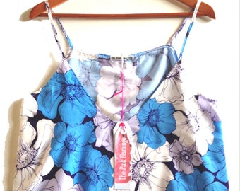 Blue Floral Sketch Swing Camisole