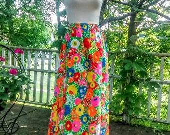 Vintage Maxi Skirt 1970's