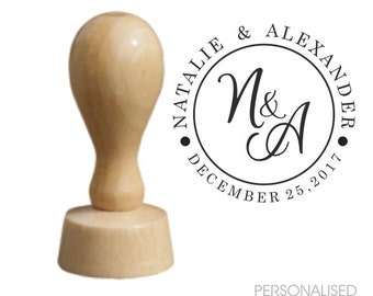CUSTOM Wedding / Save The Date Stamp / Personalised Rubber Stamp / Name and date stamp / Card stamp / Tags stamp / Invitations Stamp