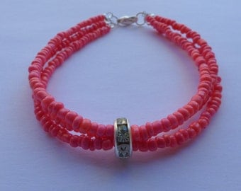 Bracelet beads roses with separator