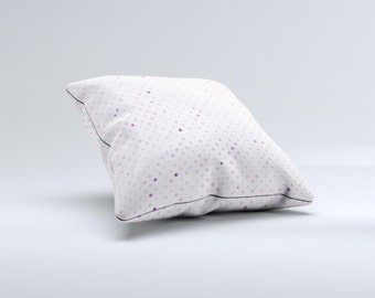 The Small Pink Polkadotted Surface ink-Fuzed Decorative Throw Pillow