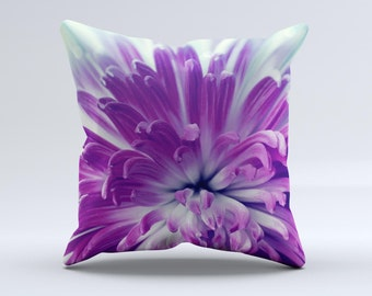 The Vivid Purple Flower - iNK-Fuzed Decorative Throw Pillow