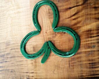 Wall Decor, Horseshoe Shamrock, Irish Gift, Rustic, St. Patricks Day, Luck Gift, Housewarming, Horseshoe Craft,