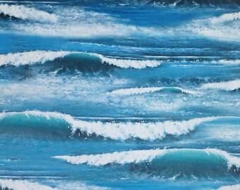 Landscape Medley~Ocean Water~Cotton Fabric~Elizabeth's Studio~Fast Shipping SB309