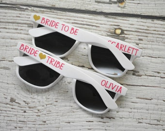 Bride Tribe Bachelorette Party Personalized Sunglasses Bride Bridal Party