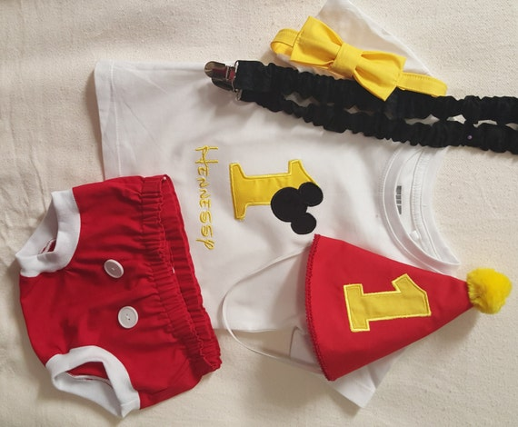 Mickey mouse inspired birthday outfit