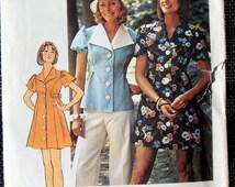 70s Babydoll dress, Simplicity 6220, Short Dress with panties, Dress pattern, size 11/12 pattern. Teen pattern, panties pattern, Epsteam