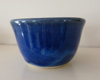 Small blue bowl.